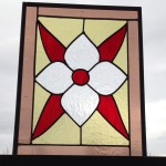 Single floral glass panel.